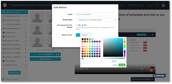Customizing Your VoiceVoice Buttons