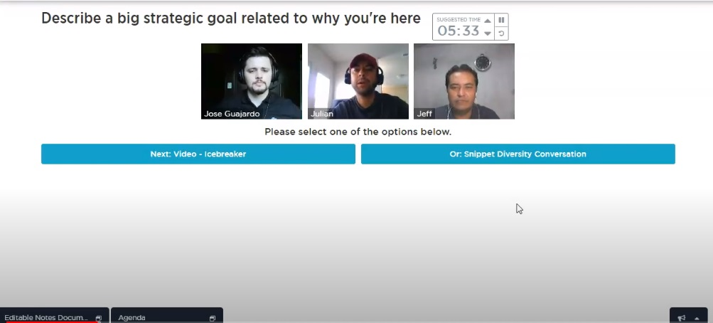 Visual Timers in Virtual Roundtables